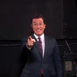 "Stephen Colbert ""Get Lucky"" Video"