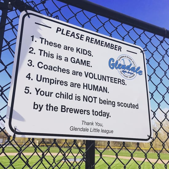 Dad's Little League Sign For Parents