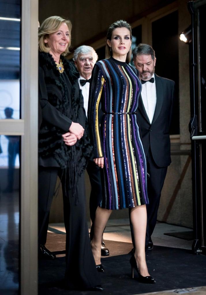 Queen Letizia's Nina Ricci Dress December 2016