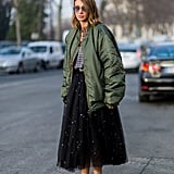 Style Them With a Tulle Skirt and Bomber Jacket