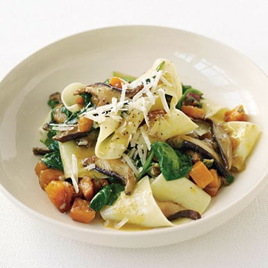 Recipe for Pappardelle With Squash, Mushrooms, And Spinach