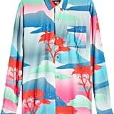 Double Rainbouu Long-Sleeved Hawaiian Shirt