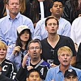 Alexander Skarsgard and Ellen Page got intense during the LA Kings Stanley Cup finals game in LA.