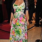 Lucy in Disguise was packed at Selfridges last night as Lily Allen played host in a gorgeous floral maxi.