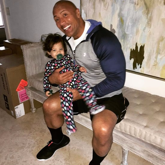 Dwayne Johnson Photo With Daughter on His Birthday 2017