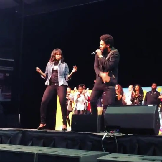 Michelle Obama Dancing at College Signing Day