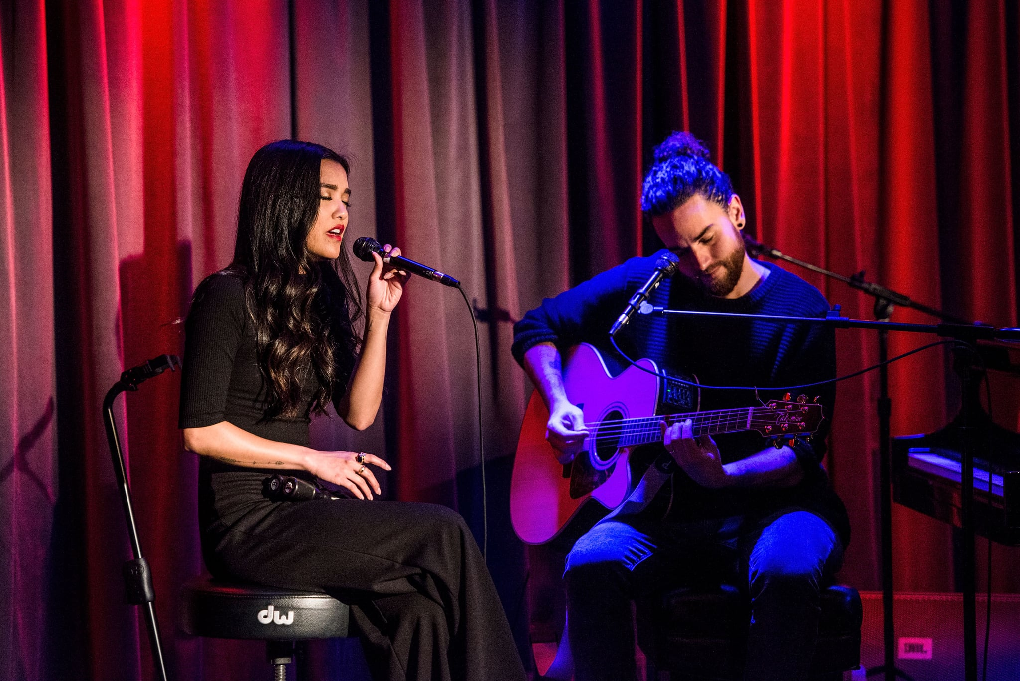LOS ANGELES, CA - DECEMBER 14:  Carissa Alvarado and Michael Alvarado perform during The Drop: Us The Duo at The GRAMMY Museum on December 14, 2016 in Los Angeles, California.  (Photo by Timothy Norris/Getty Images)