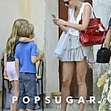 This shot of Gwyneth Paltrow taking her own shot of her kids during their Mallorca vacation over the Summer was too cute.