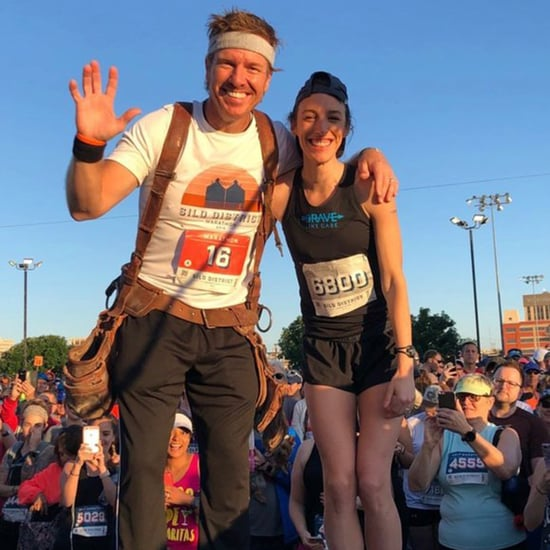 Joanna Gaines Supporting Chip For His First Marathon