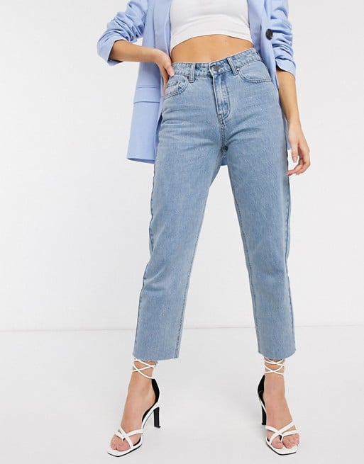 Lost Ink High Waist Straight Leg Jeans