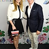 With Tommy Hilfiger at the Tommy Hilfiger show during New York Fashion Week in September 2015.