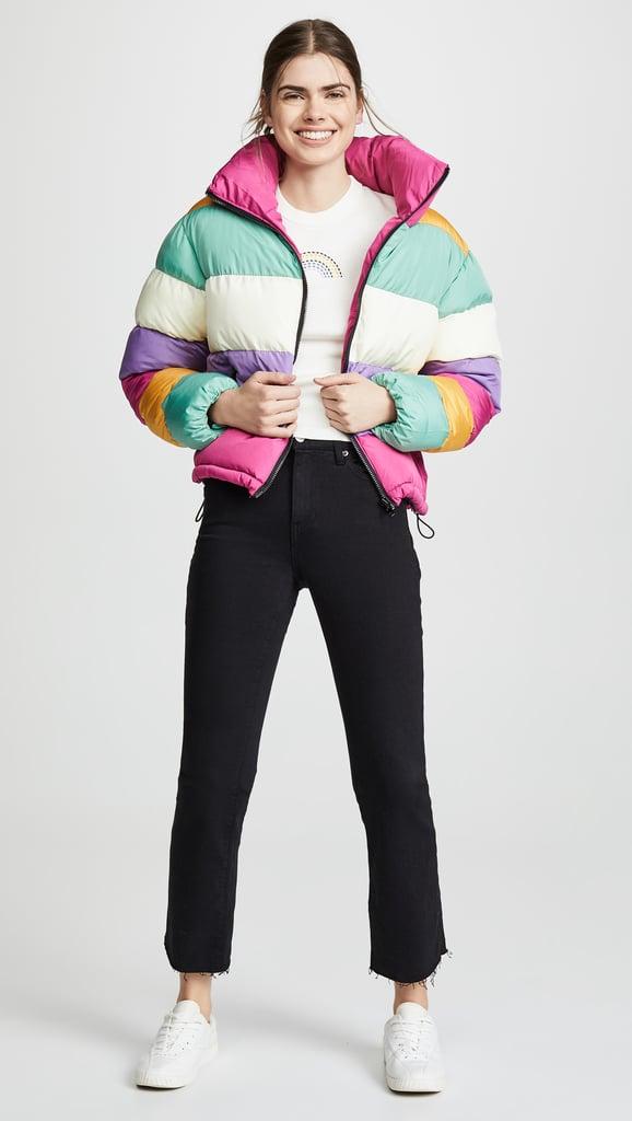 994299c8989e Glamorous Rainbow Puffer Jacket