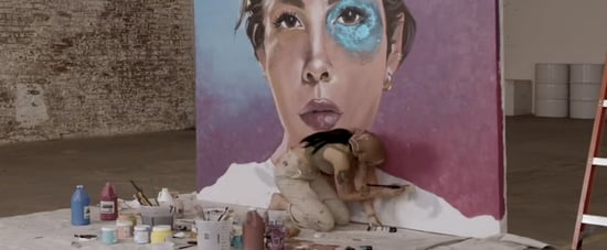 "Halsey Painting in Time-Lapse ""Graveyard"" Music Video"