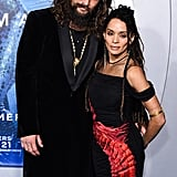 Jason Momoa and Lisa Bonet at the Aquaman Premiere in December 2018
