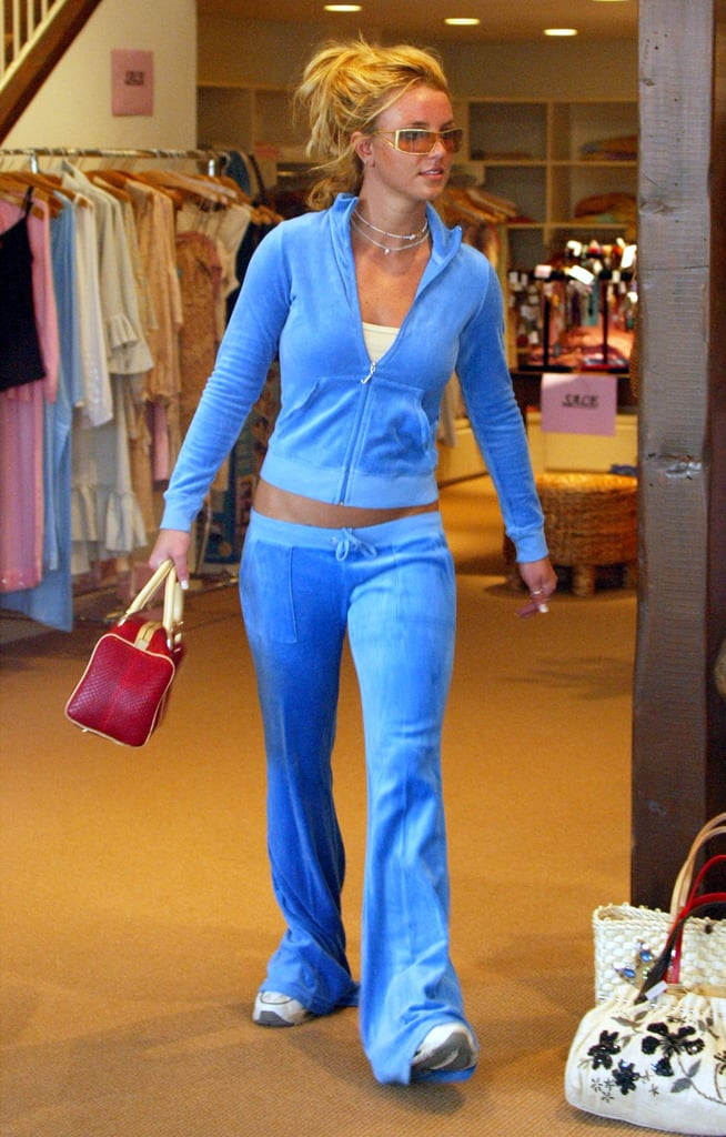 Celebrities Wearing Velour Tracksuits in the 2000s
