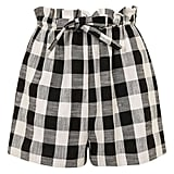 Topshop Gingham Paperbag Shorts ($58)