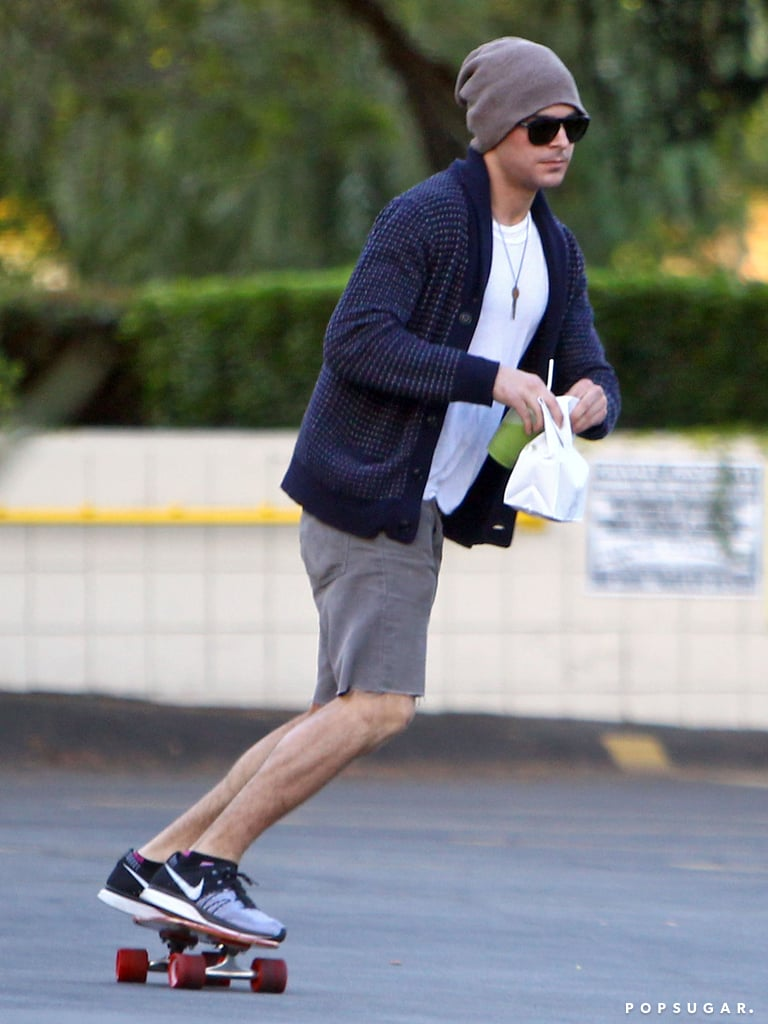 Zac Efron may have broken his jaw earlier this month, but the injury hasn't affected his good looks! In these pictures, Zac is seen stepping out in LA for the first time since news broke of his facial damage, which resulted in stitches and his mouth being wired shut. He may still be on the mend, though, since he was spotted carrying a towel and an ice pack while heading to his car. It seems Zac is also still sticking with liquids since he was drinking a green juice, after Adam Shankman revealed that he'd been at Zac's house helping him drink soup through a straw following the incident.  It's been a rough few months for Zac, who completed a stint in rehab in September, but things are already starting to look up. He's got That Awkward Moment hitting theaters in January, and the funny movie posters were just released last week. Zac also celebrated hitting 7 million Twitter followers and 1 million followers on Instagram. Source: 4CRNS/Gallo/FameFlynet