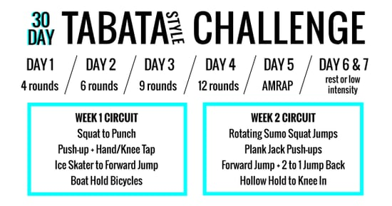 The 30-Day Tabata-Style Workout Challenge That Will Have You Sweating Like There's No Tomorrow