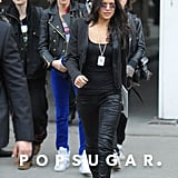 Cara Delevingne and Michelle Rodriguez made their way out of the Grand Palais in Paris after the Chanel runway show.