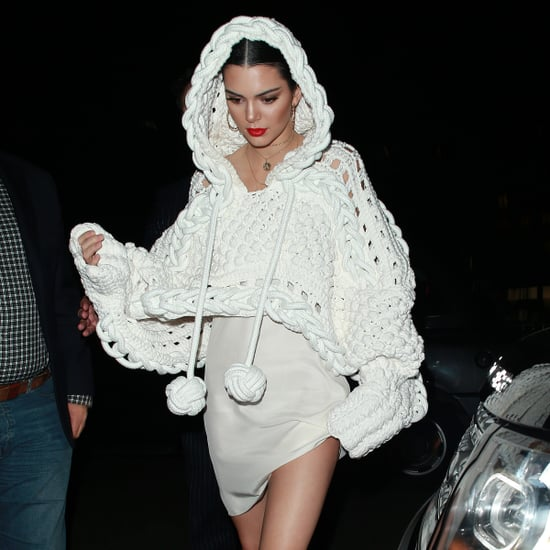 Kendall Jenner Wearing Burberry Cape From Spring 2017 Runway
