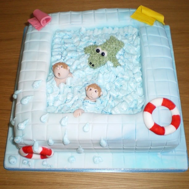 pool party cake see ya later alligator pool cakes popsugar 6715