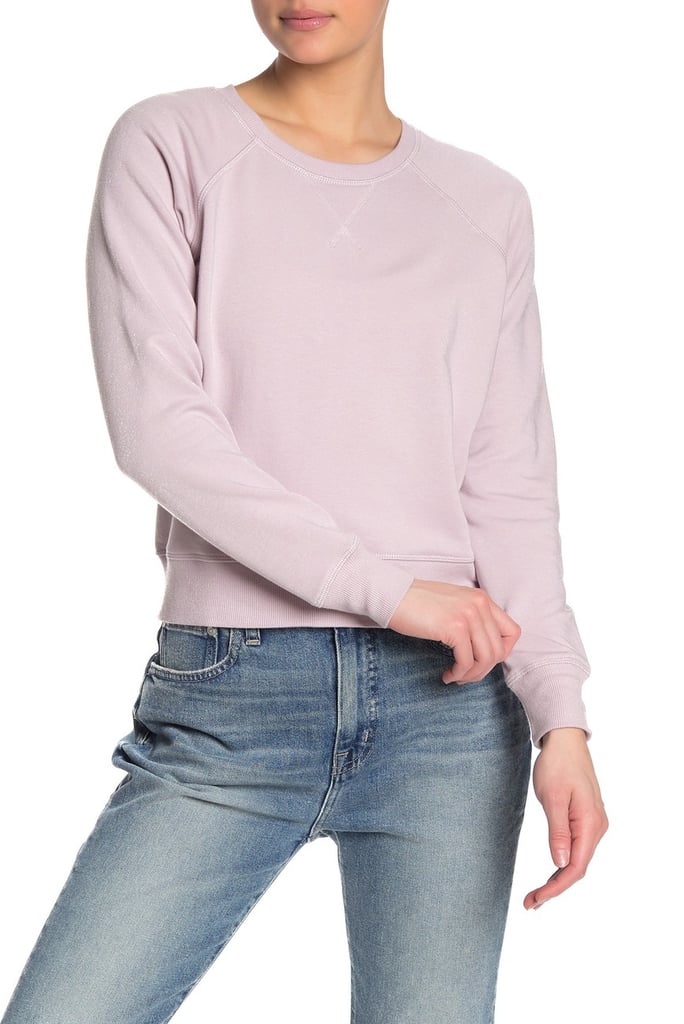 Madewell Solid Raglan Fleece Lined Sweatshirt