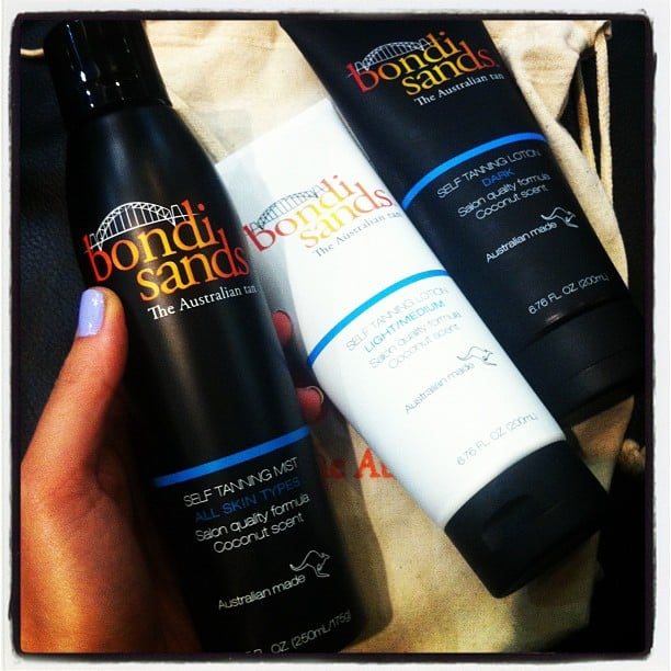Alison got hands-on with brand spankin' new tan, Bondi Sands. Aussie made, smells like coconut... Bring on summer!
