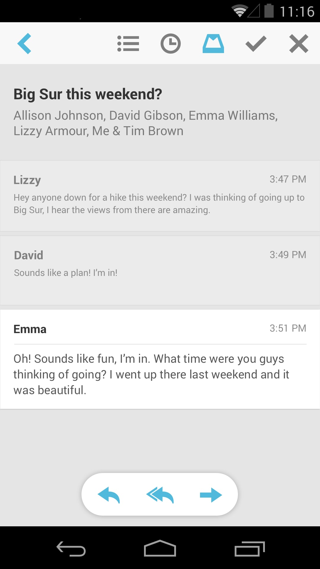 Mailbox for Android — Thread View