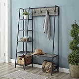 WE Furniture Entryway Storage Rack and Bench