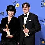"""I want to thank Amazon . . . every check cleared."" — Amy Sherman-Palladino, thanking the site that hosts The Marvelous Mrs. Maisel after accepting the award for best TV series, musical or comedy."