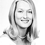 Meryl took a glamorous yearbook photo. Source: Seth Poppel/Yearbook Library