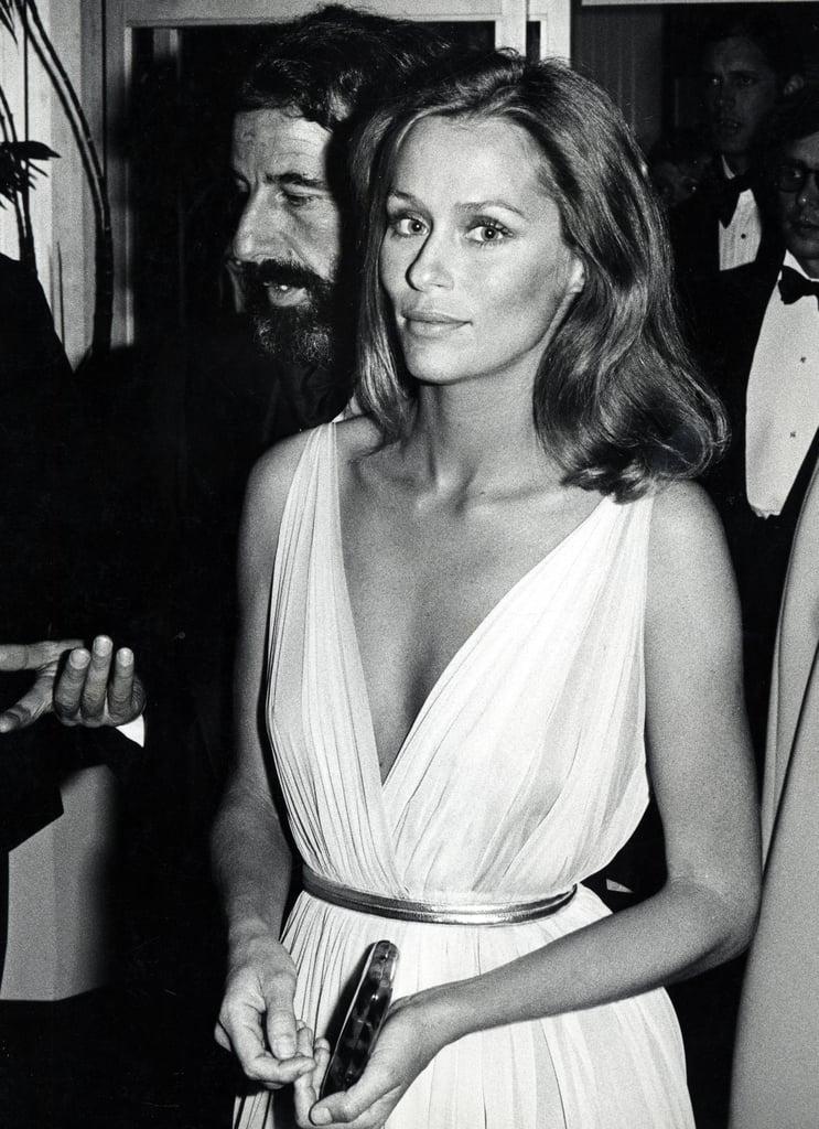 Lauren Hutton at the 1975 Academy Awards