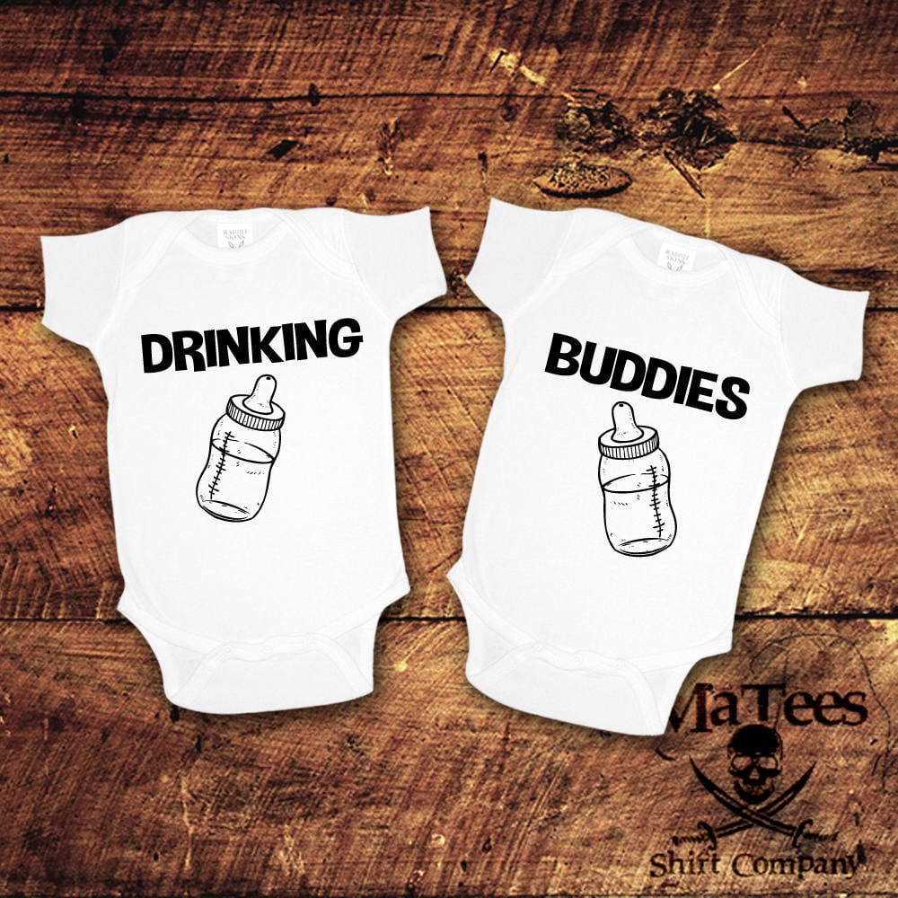 222a64bc1 Drinking Buddies | Twins Onesies | POPSUGAR Family Photo 5