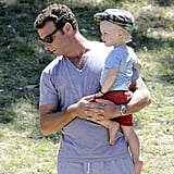 Liev Schreiber Goes Shirtless During a Swinging Park Day With Naomi, Sasha, and Samuel