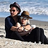 Lady Gaga and Christian Carino at the Beach March 2018