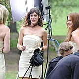 Isla Fisher, Lizzy Caplan, and Kirsten Dunst chatted between takes.