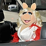 Miss Piggy wore Jeremy Scott for her grand entrance.