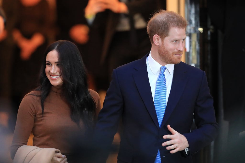 Prince Harry and Meghan Markle at Canada House in 2020