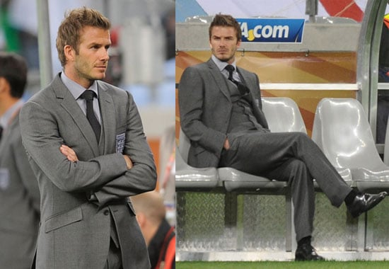 Pictures of David Beckham at the England vs. Algeria World Cup Match