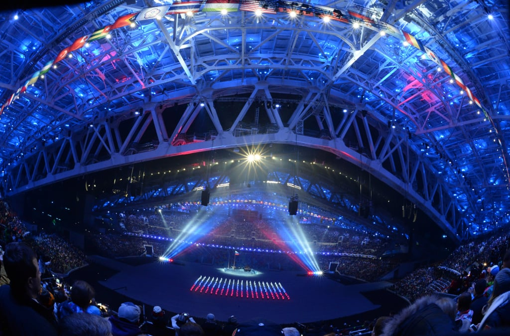 The opening ceremony involved gorgeous lights.