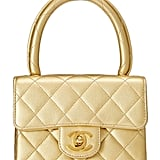 Chanel Gold Quilted Lambskin Kelly Mini