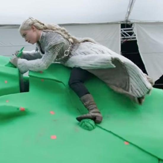 Emilia Clarke Filming Dragon Scenes on Game of Thrones Video
