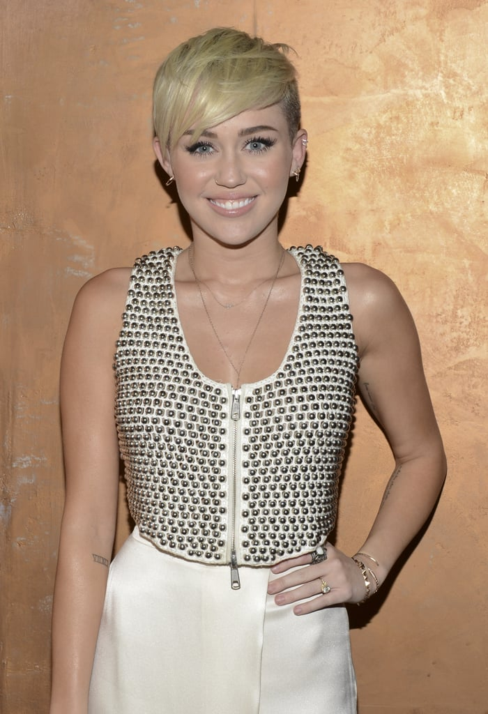 Miley Sporting a Similar Cut in 2012