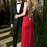 Kate Hudson and Matt Bellamy were all smiles at the Vanity Fair party.