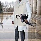 Take a page from his book; white on white looks even more chic in varying textures.