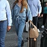 Gigi Hadid Arriving in Milan
