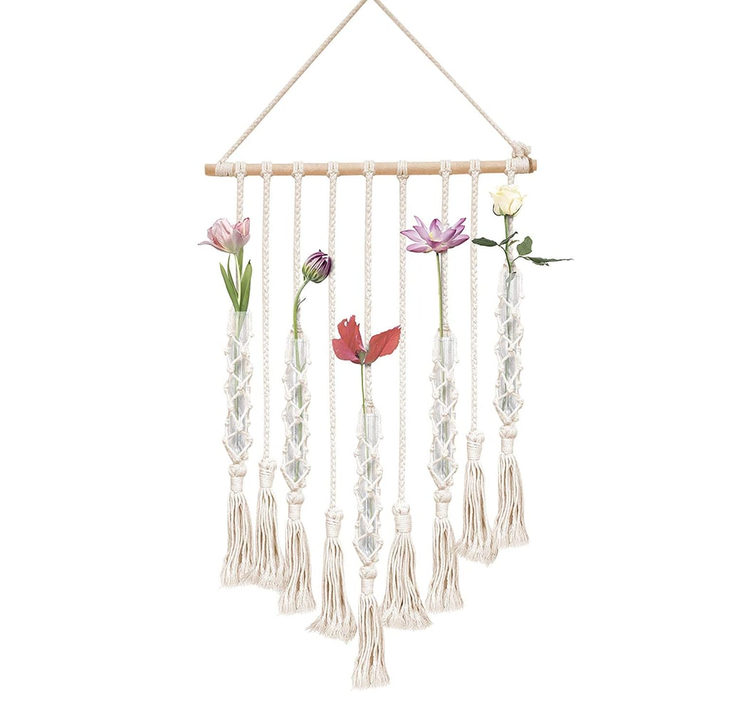 Macrame Wall Hanging With Test Tube Vases