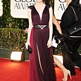 Emma Stone at the 2012 Golden Globe Awards.