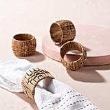 Set of Four Woven Napkin Rings