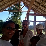 Zoe Saldana went zip-lining with her sister. Source: Twitter user zoesaldana